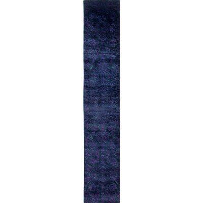 One-of-a-Kind Vibrance Hand-Knotted Blue / Purple Area Rug