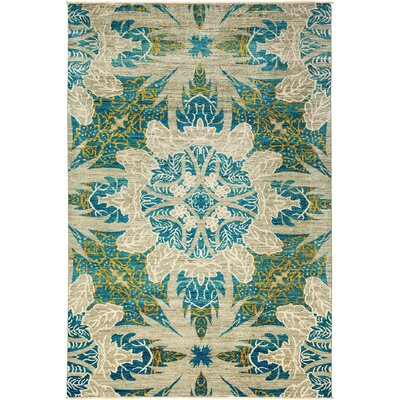 One-of-a-Kind Ziegler Hand-Knotted Blue/Beige Area Rug
