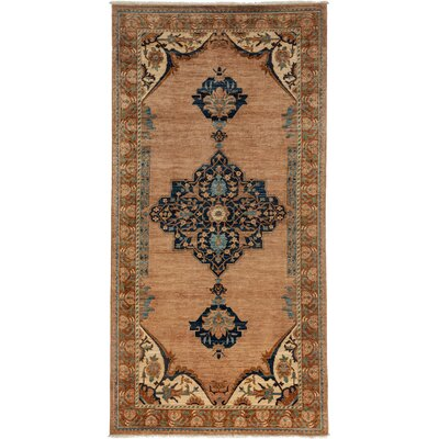 Ziegler Hand-Knotted Brown / Blue Area Rug