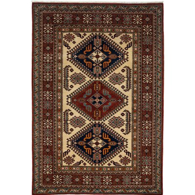 Shirvan Hand-Knotted Red / Ivory Area Rug