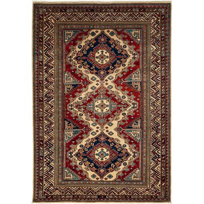 One-of-a-Kind Shirvan Hand-Knotted Ivory / Red Area Rug