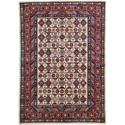 Shirvan Hand-Knotted Ivory / Red Area Rug
