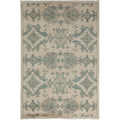 One-of-a-Kind Ziegler Hand-Knotted Ivory Area Rug