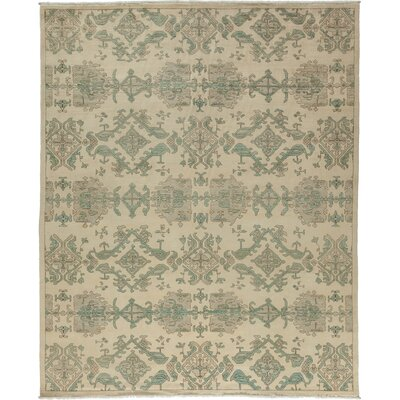 One-of-a-Kind Ziegler Hand-Knotted Beige / Green Area Rug