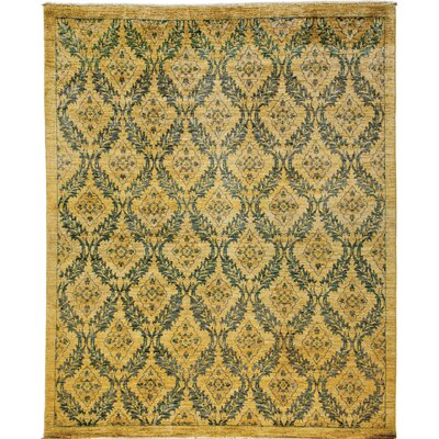 Ziegler Hand-Knotted Yellow/Blue Area Rug