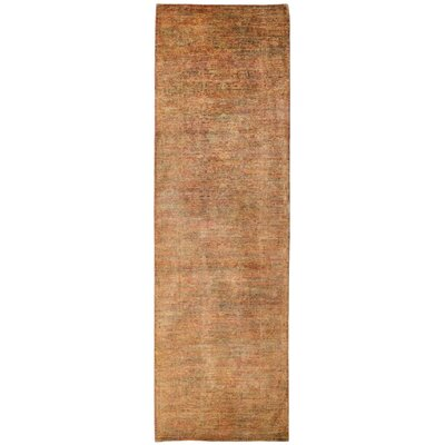 Vibrance Hand-Knotted Brown Area Rug