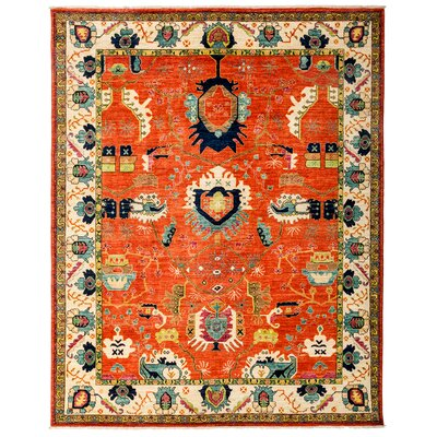 Ziegler Hand-Knotted Red/Beige Area Rug