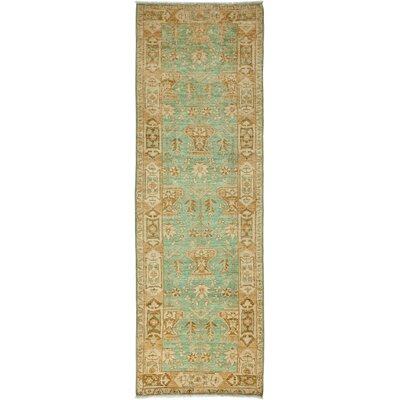 One-of-a-Kind Oushak Hand-Knotted Teal Area Rug