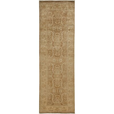 One-of-a-Kind Oushak Hand-Knotted Gold Area Rug
