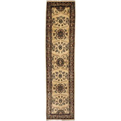 One-of-a-Kind Oushak Hand-Knotted Ivory / Brown Area Rug
