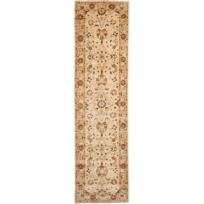Oushak Hand-Knotted Beige / Brown Area Rug