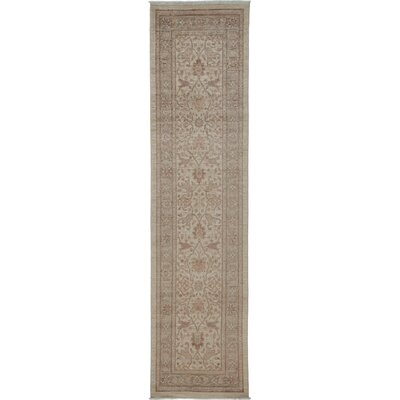 One-of-a-Kind Oushak Hand-Knotted Ivory Area Rug