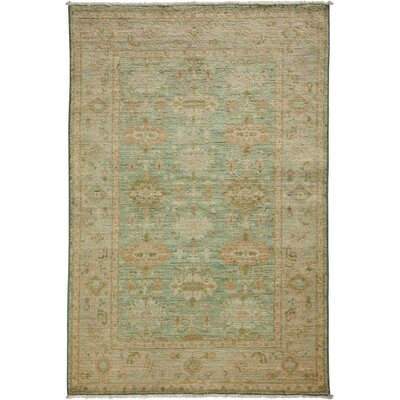 One-of-a-Kind Oushak Hand-Knotted Beige / Green Area Rug