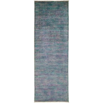 One-of-a-Kind Vibrance Hand-Knotted Purple / Blue Area Rug