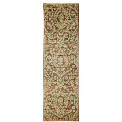 One-of-a-Kind Eclectic Hand-Knotted Brown / Green Area Rug