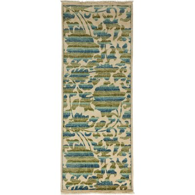 Arts and Crafts Hand-Knotted Ivory Area Rug Rug Size: Runner 31 x 81