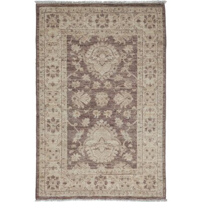 One-of-a-Kind Oushak Hand-Knotted Walnut Area Rug Rug Size: Rectangle 29 x 42