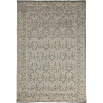 One-of-a-Kind Oushak Hand-Knotted Gray Area Rug Rug Size: Rectangle 6 x 810