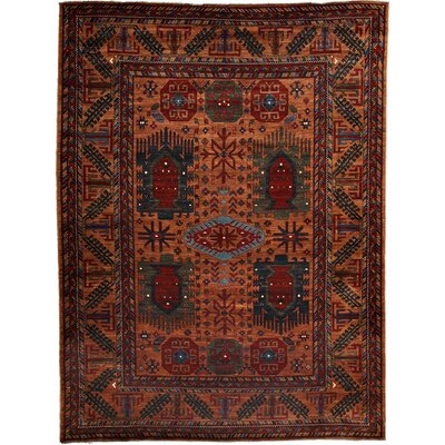 One-of-a-Kind Khyber Hand-Knotted Rust Area Rug Rug Size: Rectangle 92 x 125