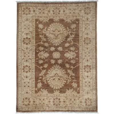 One-of-a-Kind Oushak Hand-Knotted Walnut Area Rug Rug Size: Rectangle 3 x 42