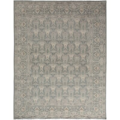 One-of-a-Kind Oushak Hand-Knotted Gray Area Rug Rug Size: Rectangle 710 x 910