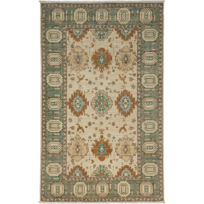One-of-a-Kind Ziegler Hand-Knotted Ivory Area Rug Rug Size: Rectangle 51 x 8