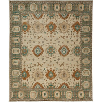 One-of-a-Kind Ziegler Hand-Knotted Ivory Area Rug Rug Size: Rectangle 82 x 910