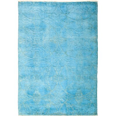 One-of-a-Kind Vibrance Hand-Knotted Blue Area Rug Rug Size: Rectangle 43 x 510