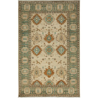 One-of-a-Kind Ziegler Hand-Knotted Ivory Area Rug Rug Size: Rectangle 52 x 81