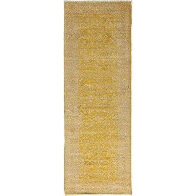 One-of-a-Kind Oushak Hand-Knotted Yellow Area Rug