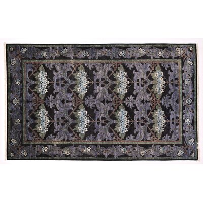 Arts and Crafts Hand-Knotted Purple Area Rug