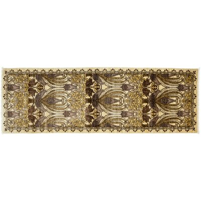 Arts and Crafts Hand-Knotted Beige Area Rug