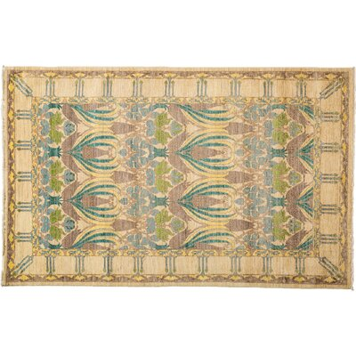 Arts and Crafts Hand-Knotted Blue/Brown Area Rug