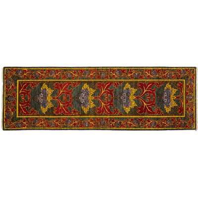 Arts and Crafts Hand-Knotted Gray/Red Area Rug