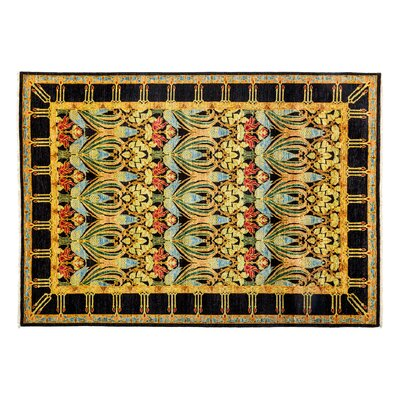 Arts and Crafts Hand-Knotted Yellow Area Rug Rug Size: 64 x 810