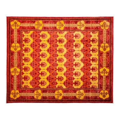 One-of-a-Kind Domestico Hand-Knotted Red Area Rug Rug Size: Rectangle 81 x 99