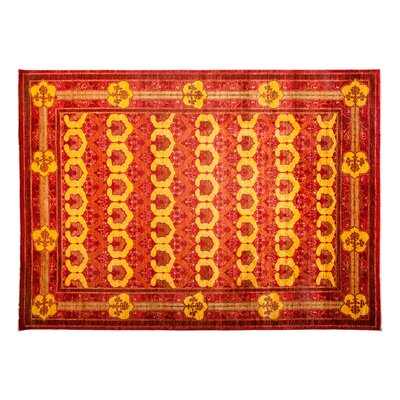 Arts and Crafts Hand-Knotted Red Area Rug Rug Size: 810 x 125