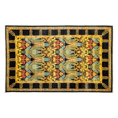 One-of-a-Kind Arts and Crafts Hand-Knotted Yellow Area Rug Rug Size: Rectangle 410 x 710