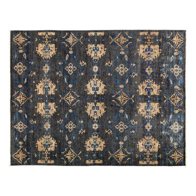 One-of-a-Kind Eclectic Hand-Knotted Gray Area Rug