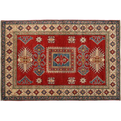 Kazak Hand-Knotted Red Area Rug M1733-363