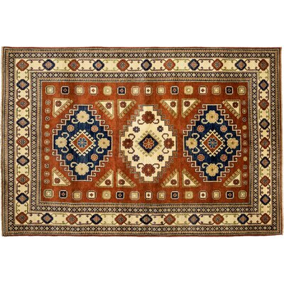 One-of-a-Kind Kazak Hand-Knotted Brown Area Rug