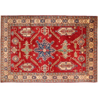 Kazak Hand-Knotted Red Area Rug M1674-52