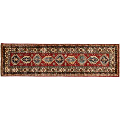 Kazak Hand-Knotted Red Area Rug M1760-152