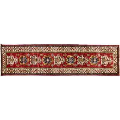 Kazak Hand-Knotted Red Area Rug M1760-157