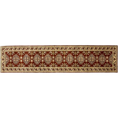 Kazak Hand-Knotted Brown Area Rug Rug Size: Runner 28 x 121