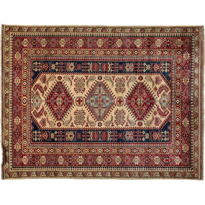 Kazak Hand-Knotted Red Area Rug M1770-267