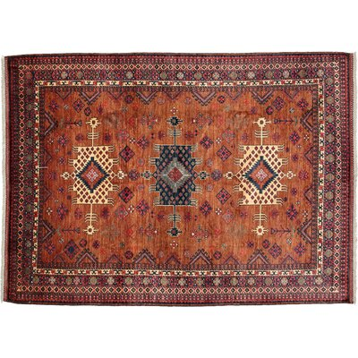 One-of-a-Kind Khyber Hand-Knotted Red Area Rug