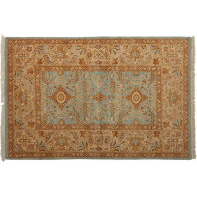 One-of-a-Kind Ottoman Hand-Knotted Brown/Blue Area Rug