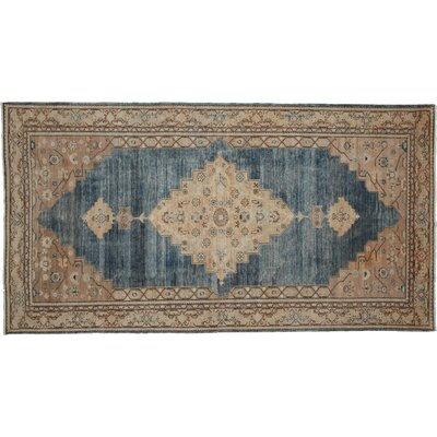 One-of-a-Kind Khyber Hand-Knotted Blue Area Rug