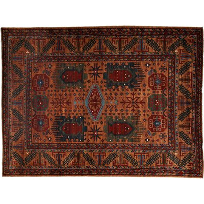 Khyber Hand-Knotted Orange Area Rug